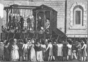Figure 17 The public gallows at the Old Bailey, ca. 1780.