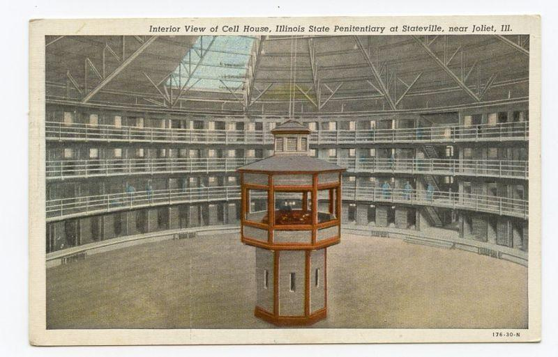 Figure 18 One of the only Panoptic prisons ever built in the United States. The Statesville Penitentiary in Illinois, ca. 1925.