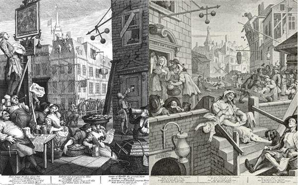 "Figure 19 ""… rising numbers of poor and indigent…"" A common, if mythical, perception of the ill famed, Gin Alley, ca. 1751."