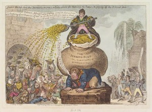 Figure 25 Cartoon depicting the soured public view towards excessive taxation and the national economy. ca. 1813.