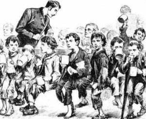 Figure 27 Illustration of workhouse children in England, ca. 1812.