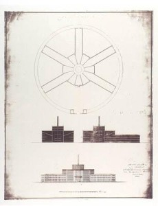 Figure 28 St. Petersberg School of Arts. A chrestomathic-Panopticon built under the supervision of Jeremy Bentham, 1810.