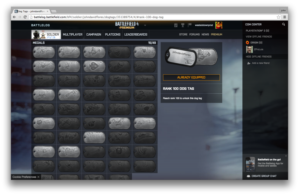 """Figure 5 Death Medals. Dog tag awards for the """"number and variety of kills..."""""""