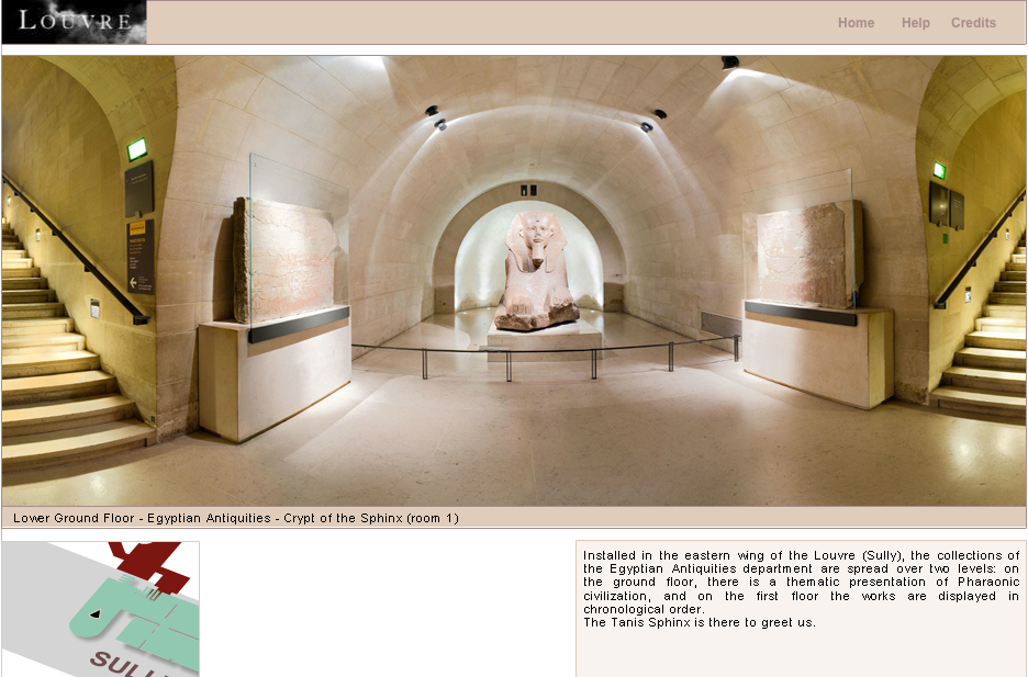 "Figure 2: The Louvre Online Tour, ""Egyptian Antiquities."""